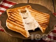 Рецепта Тостер сандвичи (тост) с кашкавал